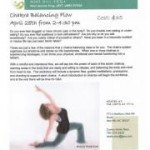 Chakra balancing workshop flyer